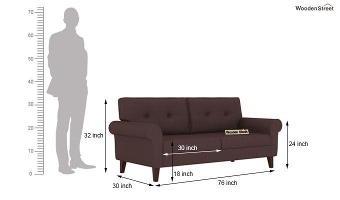 Orlando 3 Seater Sofa (Classic Brown)-3