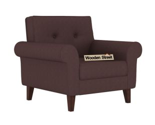 Orlando 1 Seater Sofa (Classic Brown)
