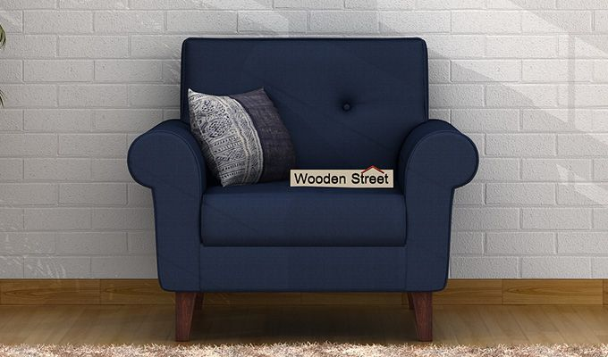 Orlando 1 Seater Sofa (Indigo Ink)-1