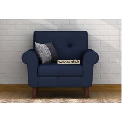 Orlando 1 Seater Sofa (Indigo Ink)