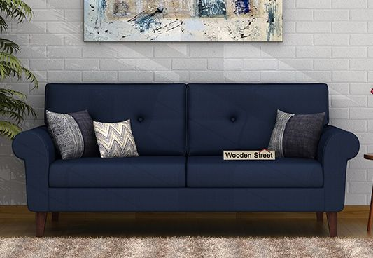 orlando fabric sofa set blue
