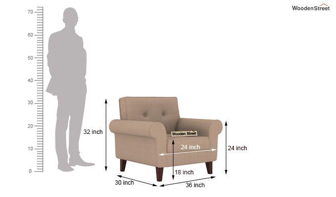 Orlando 1 Seater Sofa (Irish Cream)-3