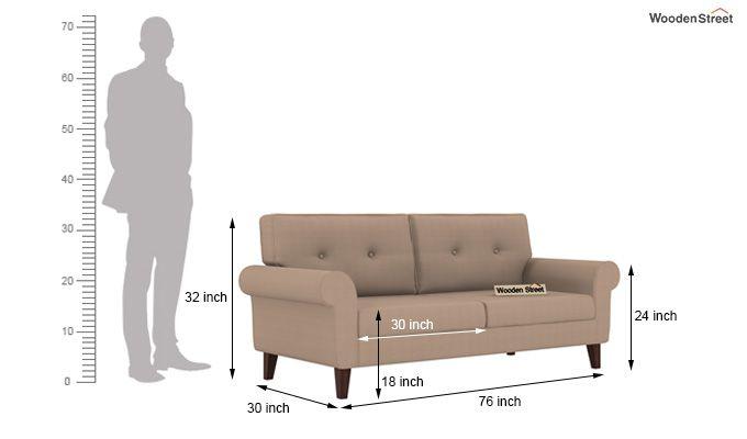 Orlando 3 Seater Sofa (Irish Cream)-3