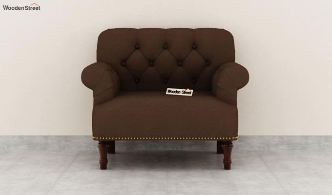Parker 2 Seater Sofa (Fabric, Classic Brown)-6