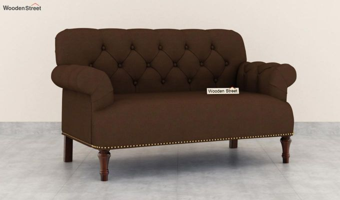 Parker 2 Seater Sofa (Fabric, Classic Brown)-2