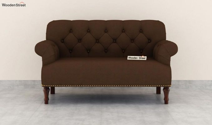 Parker 2 Seater Sofa (Fabric, Classic Brown)-3