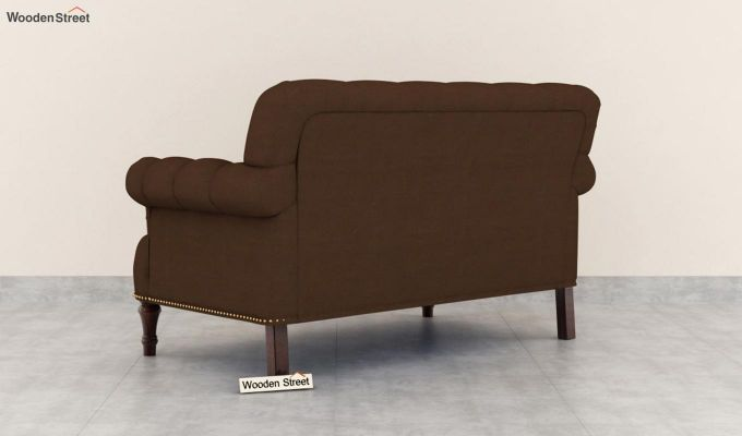 Parker 2 Seater Sofa (Fabric, Classic Brown)-4