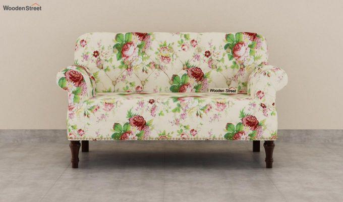 Parker 2 Seater Sofa (Fabric, Cream Blossom)-3