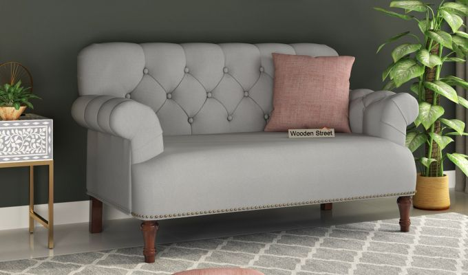 Parker 2 Seater Sofa (Fabric, Warm Grey)-1