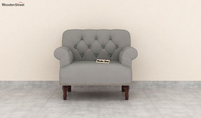 Parker 2 Seater Sofa (Fabric, Warm Grey)-6