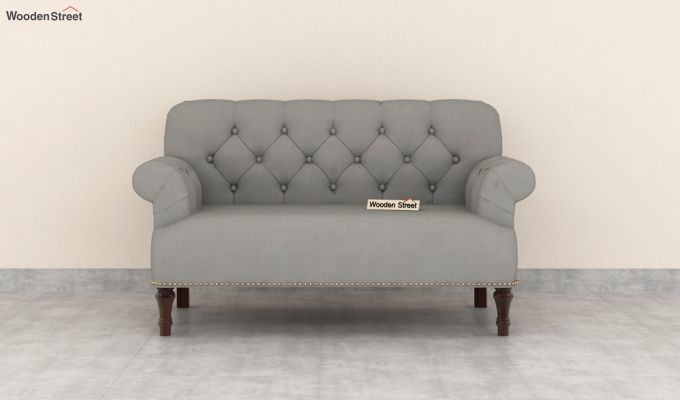 Parker 2 Seater Sofa (Fabric, Warm Grey)-3
