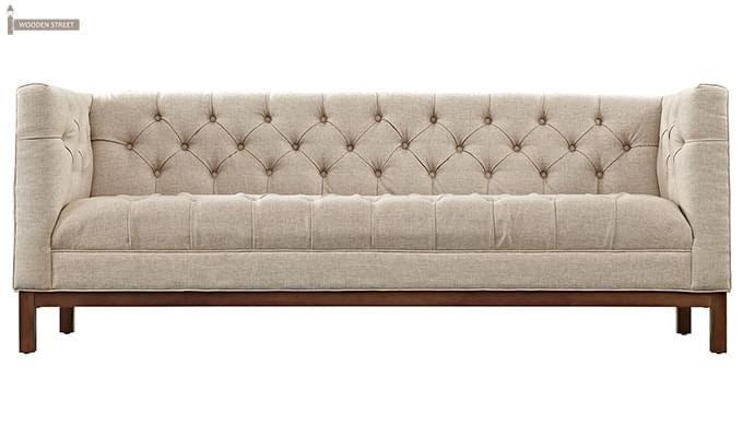 Parslo 3 Seater Fabric Sofa (Ivory Nude)-2