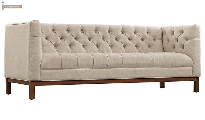 Parslo 3 Seater Fabric Sofa (Ivory Nude)-4
