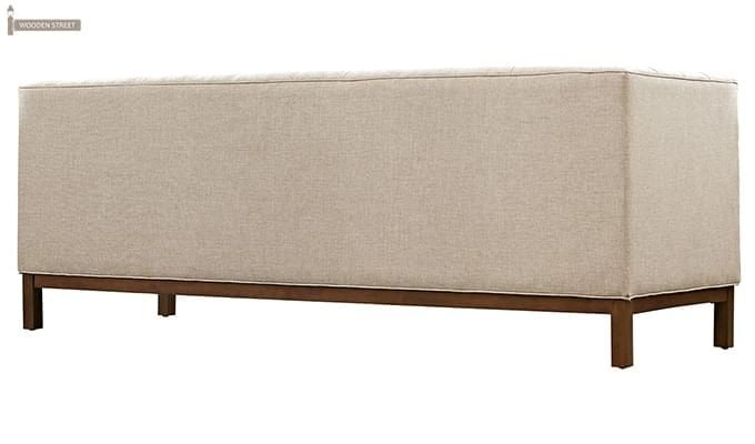 Parslo 3 Seater Fabric Sofa (Off-White)-3