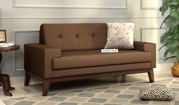 Richie 2 Seater Sofa (Fabric, Classic Brown)-1