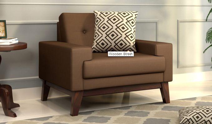 Richie 2 Seater Sofa (Fabric, Classic Brown)-5