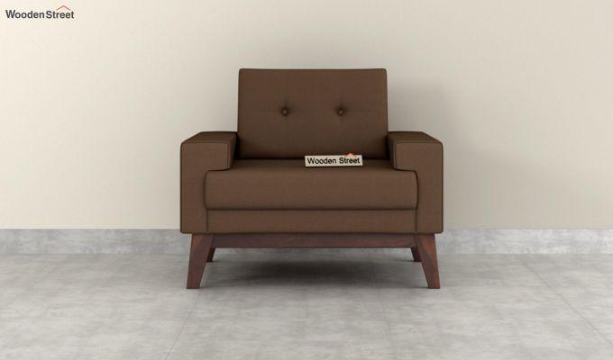 Richie 2 Seater Sofa (Fabric, Classic Brown)-6