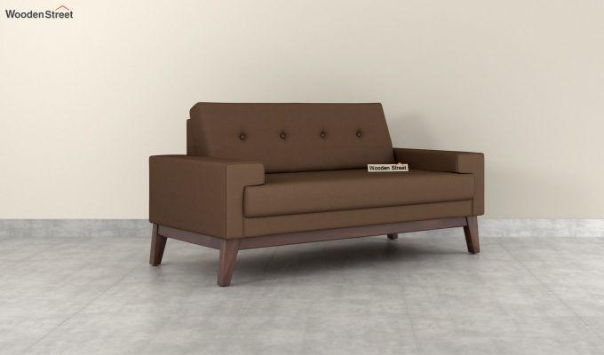 Richie 2 Seater Sofa (Fabric, Classic Brown)-2
