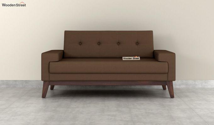 Richie 2 Seater Sofa (Fabric, Classic Brown)-3
