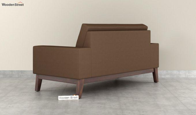 Richie 2 Seater Sofa (Fabric, Classic Brown)-4