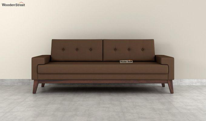 Richie 2 Seater Sofa (Fabric, Classic Brown)-8