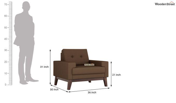 Richie 2 Seater Sofa (Fabric, Classic Brown)-9