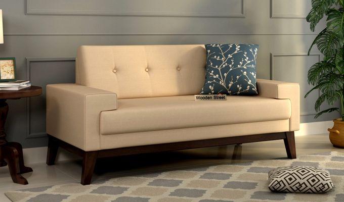 Richie 2 Seater Sofa (Fabric, Irish Cream)-1