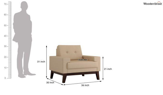 Richie 2 Seater Sofa (Fabric, Irish Cream)-9