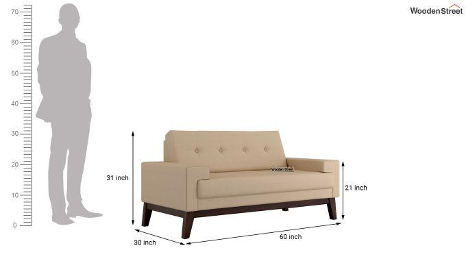 Richie 2 Seater Sofa (Fabric, Irish Cream)-10