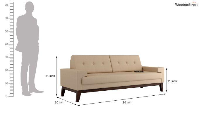 Richie 2 Seater Sofa (Fabric, Irish Cream)-11