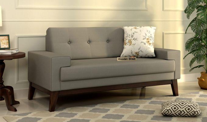 Richie 2 Seater Sofa (Fabric, Warm Grey)-1