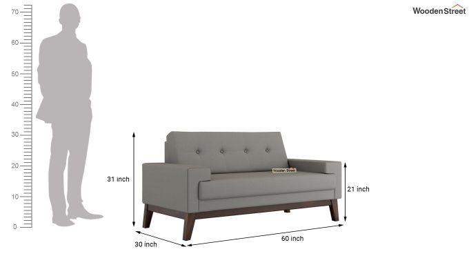 Richie 2 Seater Sofa (Fabric, Warm Grey)-5