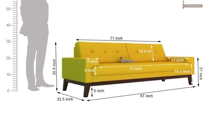 Richie 3 Seater Sofa (Yellow Blush)-5