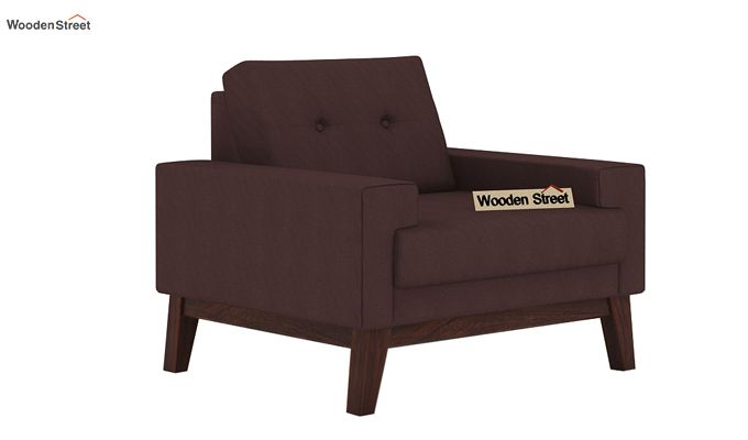 Richie 1 Seater Sofa (Classic Brown)-1