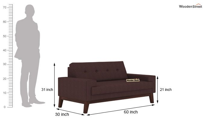 Richie 2 Seater Sofa (Classic Brown)-3