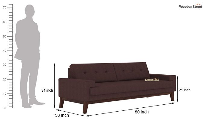Richie 3 Seater Sofa (Classic Brown)-3