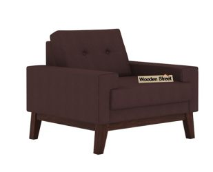 Richie 1 Seater Sofa (Classic Brown)