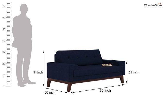 Richie 2 Seater Sofa (Indigo Ink)-3