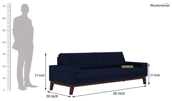 Richie 3 Seater Sofa (Indigo Ink)-3