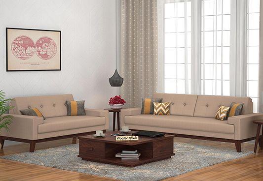 Richie 3+2 Fabric Sofa Set (Irish Cream)