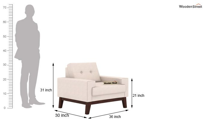 Richie 1 Seater Sofa (Ivory Nude)-3