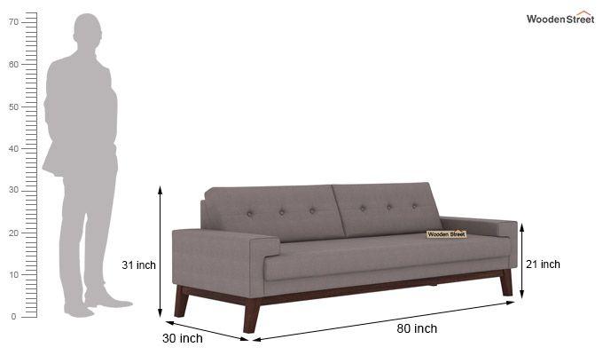 Richie 3 Seater Sofa (Warm Grey)-3