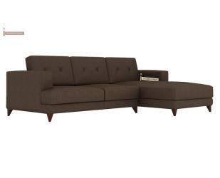 Robert L Shape Fabric Sofa (Classic Brown)