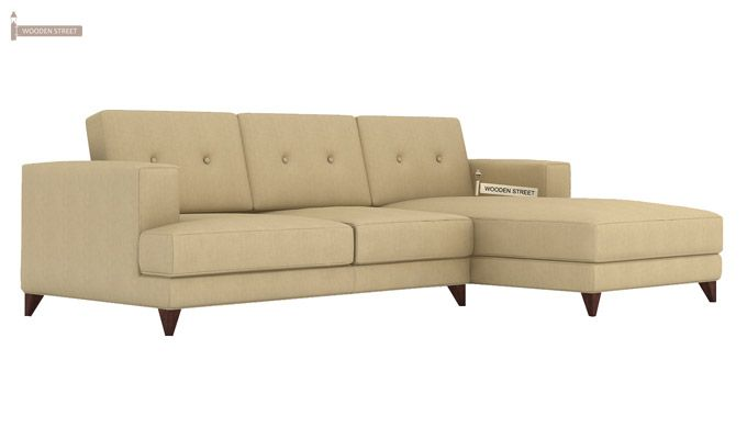 Robert L Shape Fabric Sofa (Irish Cream)-3