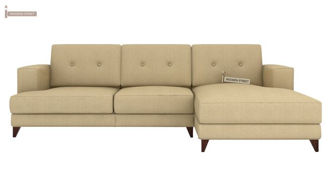 Robert L Shape Fabric Sofa (Irish Cream)-2