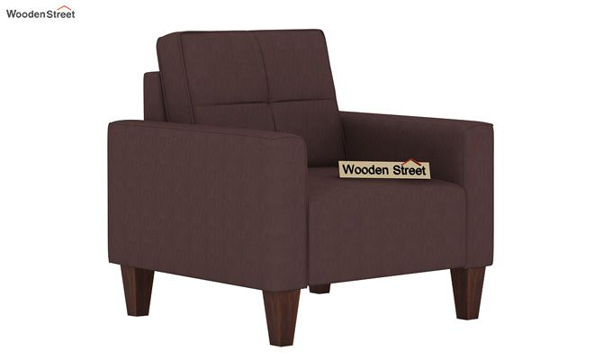 Sibert 3+1+1 Seater Fabric Sofa Set (Classic Brown)-4