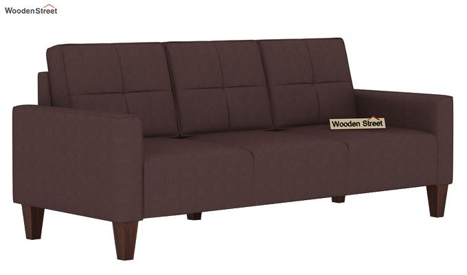 Sibert 3+1+1 Seater Fabric Sofa Set (Classic Brown)-2