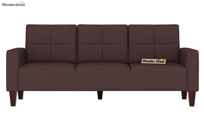 Sibert 3+1+1 Seater Fabric Sofa Set (Classic Brown)-3