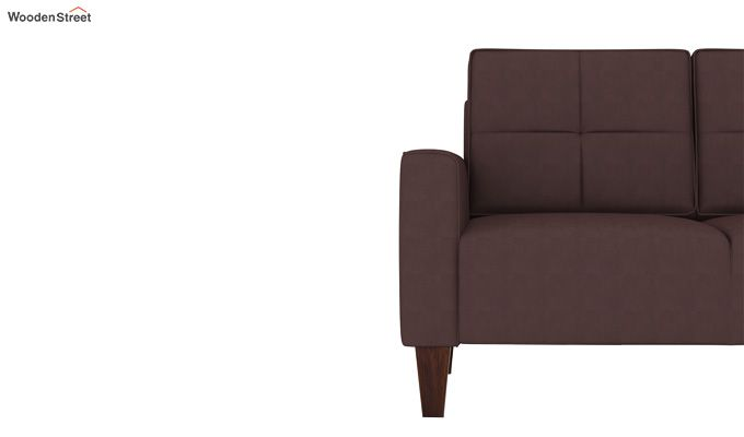 Sibert 3+1+1 Seater Fabric Sofa Set (Classic Brown)-6