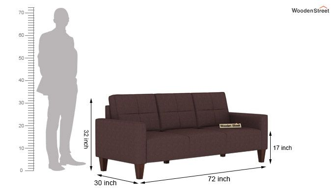 Sibert 3+1+1 Seater Fabric Sofa Set (Classic Brown)-7